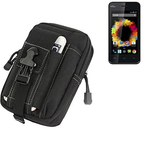 K-S-Trade Gürtel Tasche Für Caterpillar Cat B25 Gürteltasche Holster Schutzhülle Handy Hülle Smartphone Outdoor Handyhülle Schwarz Zusatzfächer