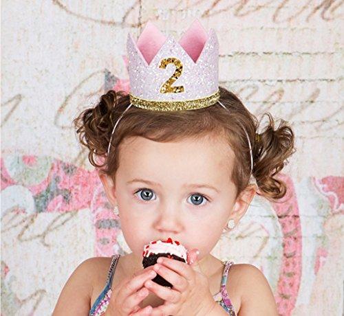 Diadema de cumpleaños para niña de 2 años