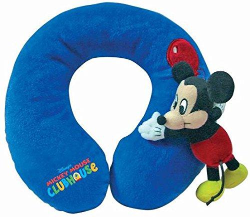 Disney - Cojín de cuello para viaje con peluche, almohada de cuello para viaje con peluche.