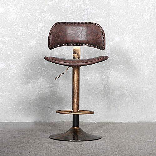 LLYU Fotstöd Retro Simple Stainless Steel Bar Chair European Style Bar stol för Restaurant Cafe Dinner Movable höj- och sänkbara kontorsstol köksö Chair bardisk