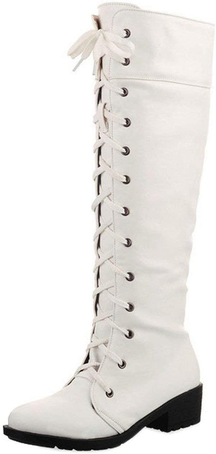 Women Classical Knee high Boots Lace Up