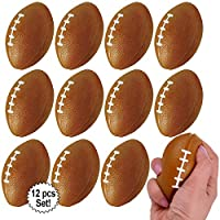 "Mini Foam Footballs 12 Pcs Pack | 3.25"" Inch Party Favor Balls for Kids 