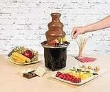 Rosenstein & Söhne Fondue: Schokoladen-Brunnen mit 2 Ebenen, 275 Watt (Schokoladenbrunnen Schokolade) - 6