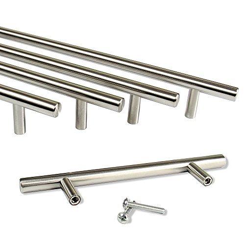 Rapid Teck® Möbelgriff Edelstahl (160mm Bohrloch Abstand) Stangengriffe Möbelgriffe Stangengriff Relinggriff Griff Bogengriff