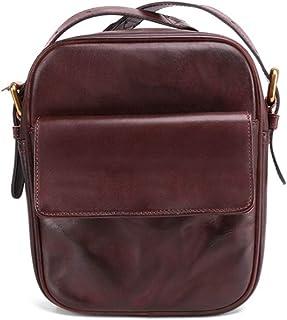 LIMING Men's Vintage Causal Bag First Layer Cowhide Shoulder Bag Causal Handbag,Size:18 * 22 * 8,Colour:Coffee (Color : Co...