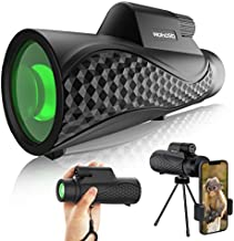Monocular Telescope -Hohosb 12X42 Truthful High Definition Monocular for Adults Kids, 16.5mm Super Bright BAK4 Prism FMC Lens -Monocular for Bird Watching Hunting Camping Travelling Wildlife Secenery