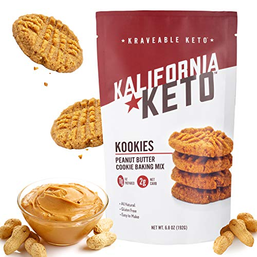 Kalifornia Keto Peanut Butter Cookie Mix – Low Carb, Keto-friendly, and Sugar Free, 6.8 oz pack (15 Keto Cookies) – Soy Free, Gluten free, Dairy Free, and Grain Free Keto Baking Mix