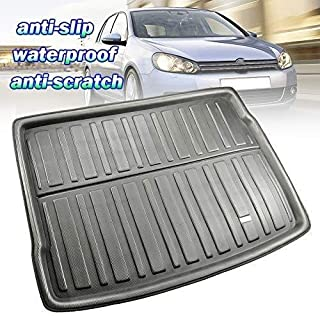 Cargo Liners Car Trunk Mat for Golf/GTI/R/R32 MK6 MK5 Hatchback Cargo Tray Trunk Floor Protector Mat,Custom Tailored Fit Trunk Liner Floor Mat Sheet Carpet Luggage Tray Waterproof