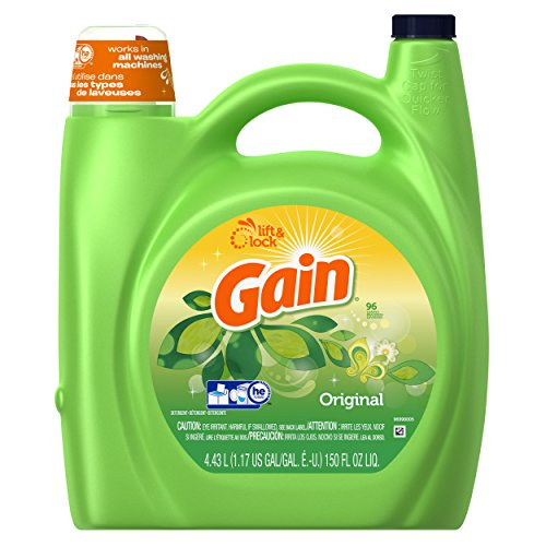 Gain with FreshLock for High Efficiency Machines Liquid Detergent Original Scent 96 Loads 150 Fluid Ounce