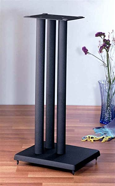 RF Series Heavy Duty Speaker Stand In Black Set Of 2 29 In H 28 Lbs Pair