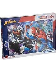 Clementoni 27117 Spindelmannen 27117-supercolor pussel-Spider Man-104 stycken, flerfärgad