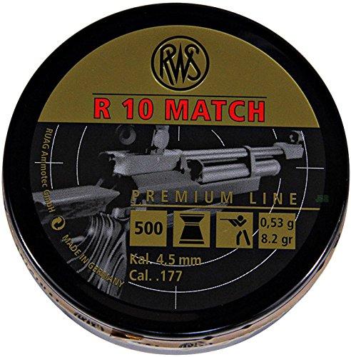 Lata de 500 perdigones alta calidad RWS R-10 Match 4,5mm. Modelo 32300103
