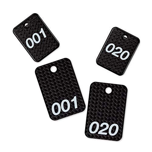 オープン工業 番号札 1-20番 メッシュ調 黒 BF-160-BK