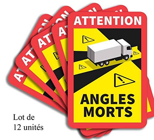 12 Stück. TOTE WINKEL. Für LKWs, schwere Nutzfahrzeuge In Frankreich zugelassen ...