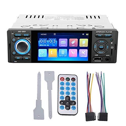 Reproductor MP5, 4.1in Reproductor MP5 MP4 HD Bluetooth Radio U Disco Llamada manos libres Estéreo 12V(MP5-3001)