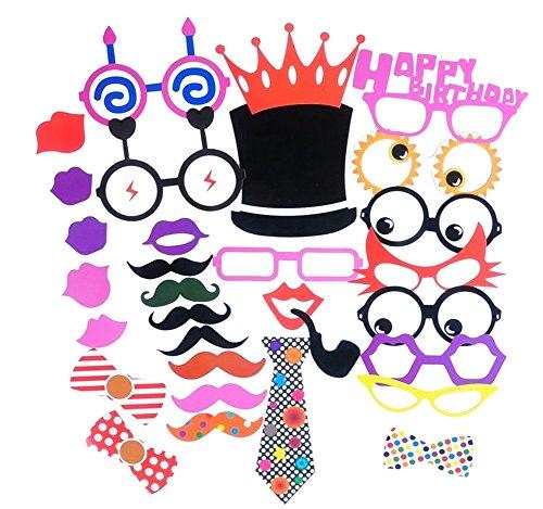 CAOLATOR 31 Fotorequisiten Fotoaccessoires für Witzige Lustige Bilder Feiertags-Party Geburtstags-Party Requisiten Kreative Hochzeitsbilder