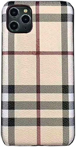 Phone Cases Compatible with iPhone 12 Pro Max,Luxury Classic Designer Pattern Ultra-Thin Anti-Fall Hard PU Leather iPhone Case for iPhone 12 ProMax 6.7inch(Color 1)