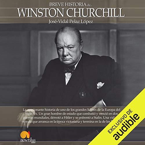 Diseño de la portada del título Breve historia de Winston Churchill