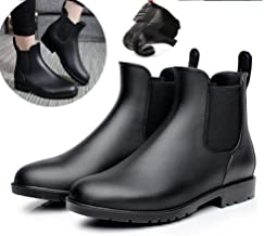 Women's Ankle Rain Boots Waterproof Short Boots Anti Slip Chelsea Rubber Ankle Boots for Indoor Outdoor