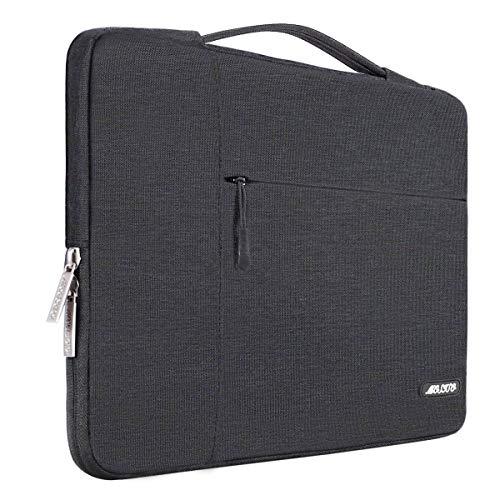 MOSISO Laptop Aktentasche Kompatibel mit 13-13,3 Zoll MacBook Air, MacBook Pro, Notebook Computer, Polyester Multifunktion Sleeve Hülle, Space Grau