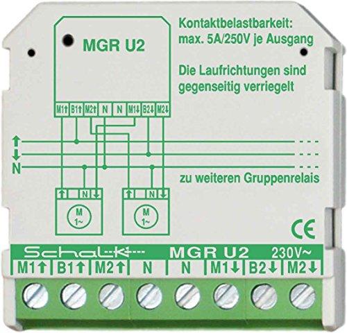 Schalk Motor-Gruppen-Relais MGR U2 230VAC,2W,5A Trennrelais Jalousie 4046929401050