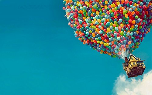 1000 piezas de rompecabezas avanzados de madera, Up Flying huse: Carl, Balloon house, divertidos juegos educativos para adultos y niños.