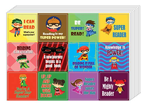 Creanoso Super Reading Ster Stickers (20 vel) - Wall Art Decal Decor Set - kleinigheidjes Gifts for Boys & Girls, Teens - Classroom en School Beloning Incentives - Giveaways aan Kinderen