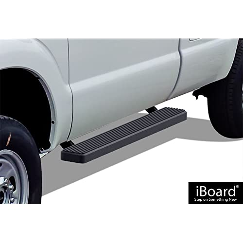 VioGi 2pcs Fit 99-16 Ford F250//F350//F450 Superduty Super Crew Cab 4 Oval Blk Carbon Steel C//S Side Step Nerf Bar Running Boards Pickup Truck 4 Full Size Doors