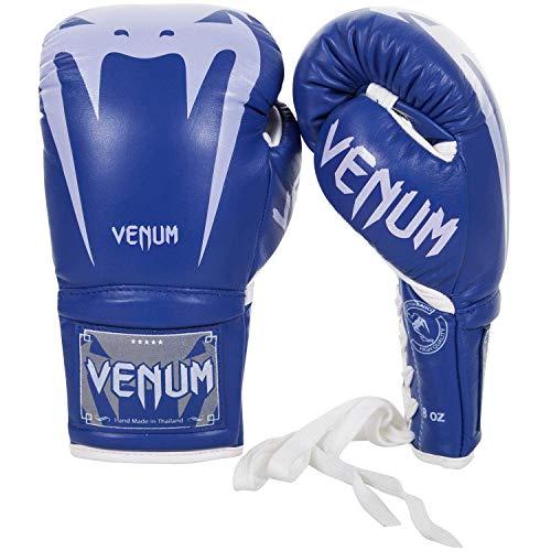 Venum Giant 3.0 Boxhandschuhe Nappa Leder mit Schnürsenkel Blau Training Sparring - Blau, 14oz
