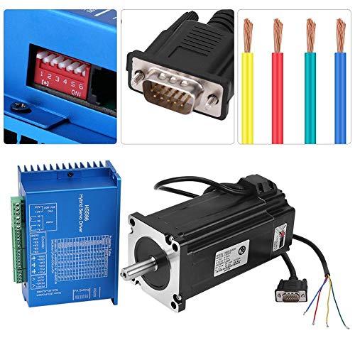 Kit de controlador de CNC, Servo controlador híbrido HSS86 + Servidor paso a paso de alta velocidad de circuito cerrado NEMA34 12N.M 0~3000 RPM para fresadora de grabado de enrutador CNC