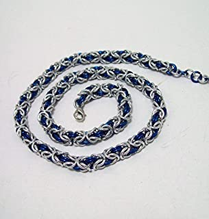 byzantine, necklace, chainmaille necklace, chainmail