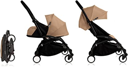 Babyzen Yoyo+ Stroller Complete - Black Frame with Taupe Canopy and Newborn Set