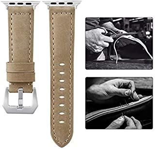 Applicable to Apple 38MM/40MM Crazy Horse Dash Strap Apple Watch42MM/44MM Leather Strap