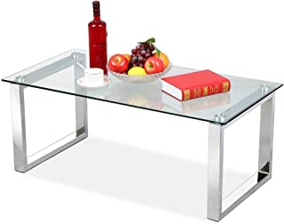 Amazon com: Clear - Coffee Tables / Tables: Home & Kitchen