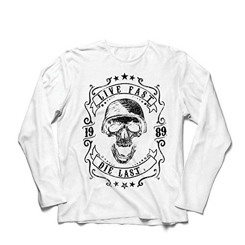 lepni.me Heren T-Shirt Leven Snel - Die Laatste - Bike Ride Quotes, Motorkleding