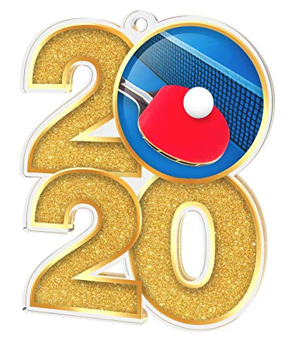 Trophy Monster 2019 - Medalla de Tenis de Mesa (70 mm, 3 Unidades), diseño de Monstruo, Multicolor, 50x Medals/Ribbons