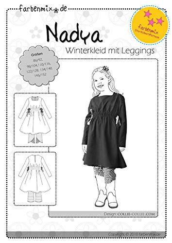 Farbenmix Nadya Schnittmuster (Papierschnittmuster für die Größen 86/92-146/152) Winterkleid mit Leggins