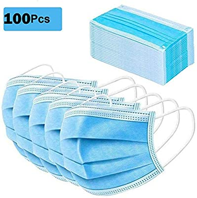 Dreambeauty Disposable Face Cover Thick 3-Ply Mouth Cover with Elastic Ear Loop,Breathable (100pcs)