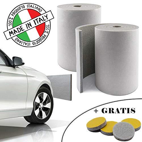 SLIMLEY - MADE IN ITALY - 2 Rotoli 2000 x 200 x 8mm - Paracolpi garage Adesivo forte + 4pz gommini adesivi GRATIS - Paracolpi auto ammortizzanti Fascia protettiva auto Protezione muro portiera auto