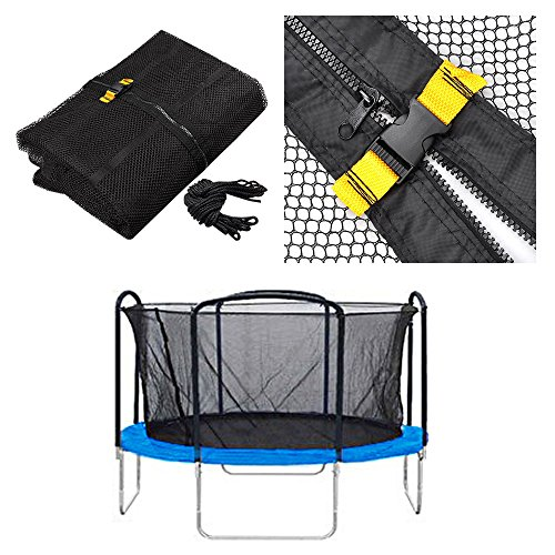 AW Trampoline Enclosure Net Fence Replacement Safety Mesh Netting 12' 4 Arch 8 Pole
