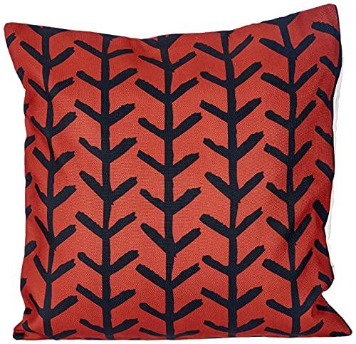 BonaMaison Fundas para Cojínes, Negro Rojo Funda de Almohada para Sofá Coche Silla Oficina Cama Decorativa Moderna Decoración del Hogar, 45x60 Cm - Diseñado y Fabricado en Turquía