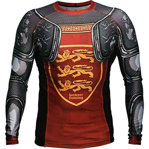 Rashguard Hardcore Training Lionheart MMA BJJ Fitness Grappling Camiseta de compresión