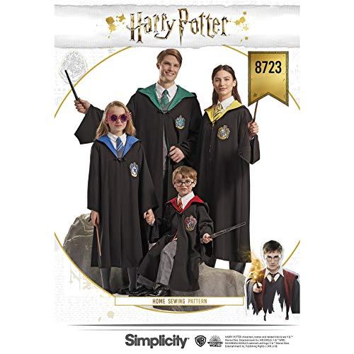 Simplicity 8723 Schnittmuster Harry Potter Cosplay und Halloween Kostüm für Kinder Jugendliche und Erwachsene Größen XS-XL