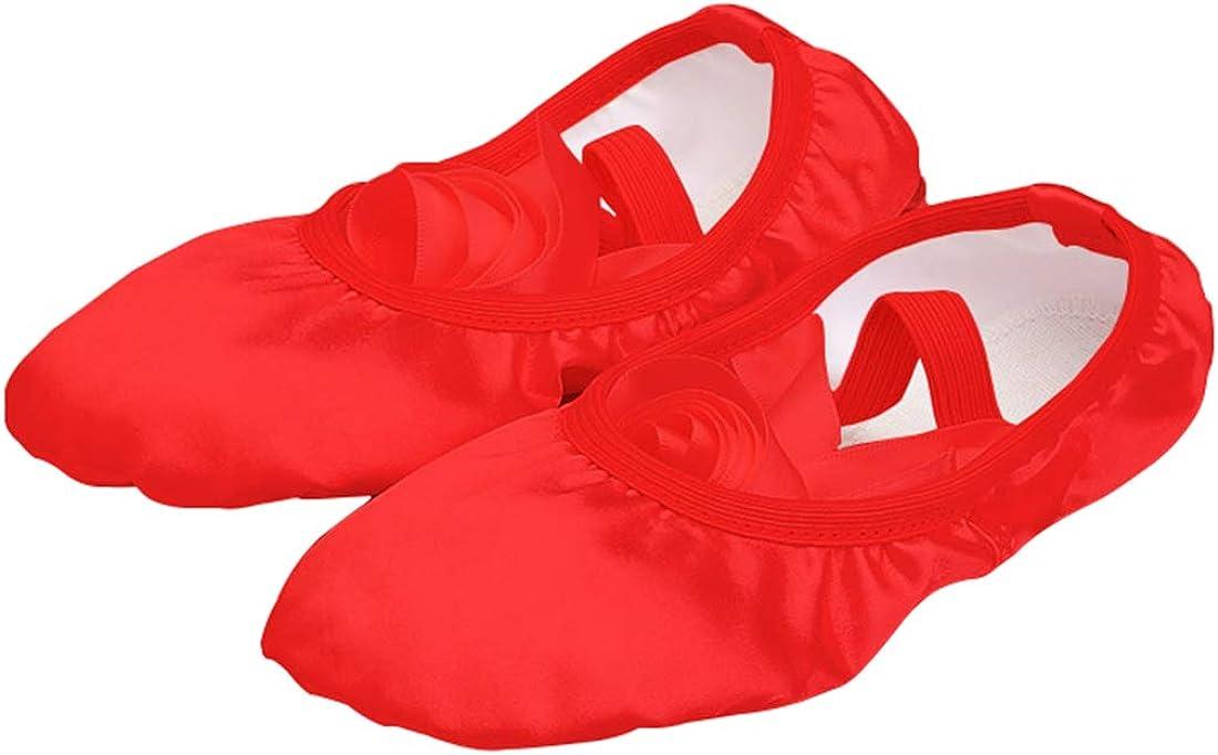 Jiyaru Girls Women's Ballet Shoes Satin Dance Flats Slippers Ballroom Gymnastics