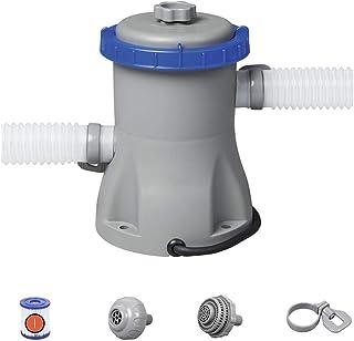 330 Gallon European Standard Filter Pump Flowclear 330Gal Filter Pump Swimming Pool, Gray, 27X25x27 Cm