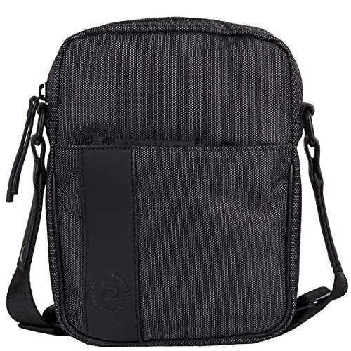 bugatti Domani kleine Umhängetasche für Herren und Damen Schultertasche Leder, Messenger Bag Kuriertasche, Grau