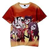 Daiwen Helluva Boss Camiseta, Hazbin Hotel Anime 3D Imprimir Camisetas Casuales Disfraz de Cosplay para Hombres y Mujeres