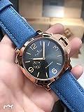 Männer automatische mechanische Edelstahl blau Canvas Leder Rose Gold Sport Taucheruhren Limited schwarzes Zifferblatt 44mm