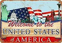 米国のブリキの看板の壁の装飾の金属のポスターへようこそオフィスカフェクラブバーのレトロなプラークの警告サインの工芸品
