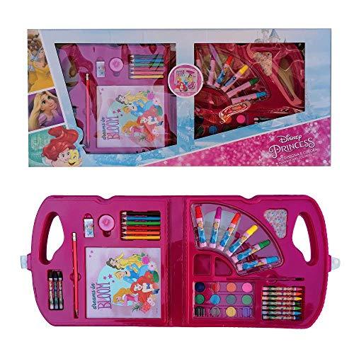 MCM Maletín de colores Princesas Disney 30 piezas en caja regalo tiempo...